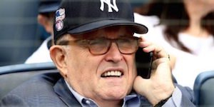 Giuliani at Yankee Stadium